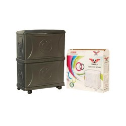 Viraj Grey Colour - Double Battery and Inverter Trolley