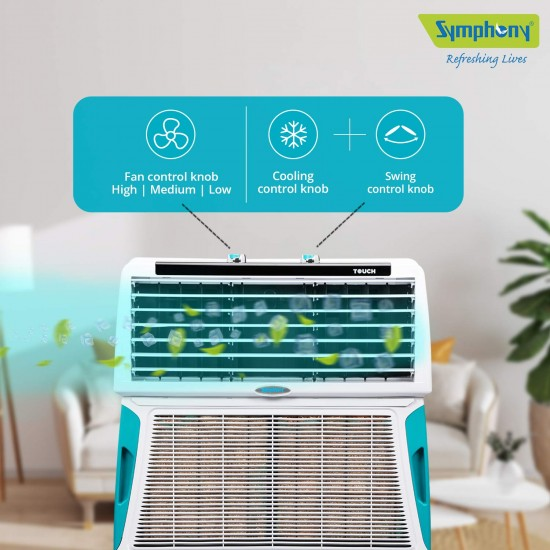 Symphony 55 L Room Air Cooler  (White, Touch 55)