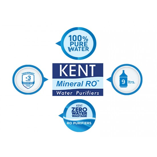 Kent EXCELL+ 7Ltr RO + UF + TDS Controller