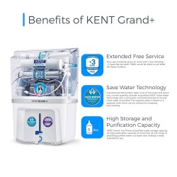 Kent Grand Plus New (With In Tank UV) 9L RO + UV + UF + TDS Controller