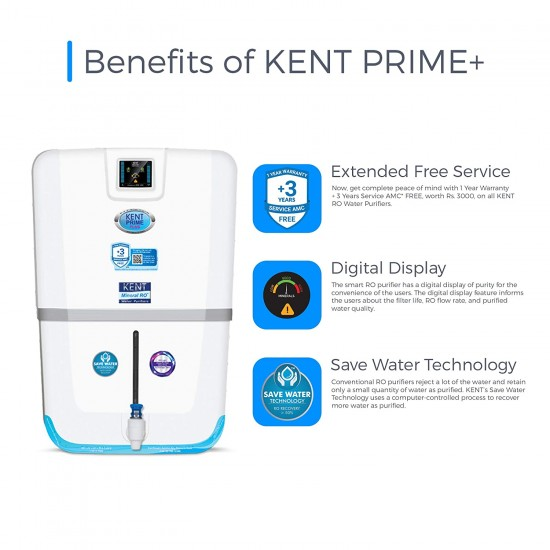 KENT Prime Plus 9Ltr Wall Mountable RO+UV+UF+TDS Controller